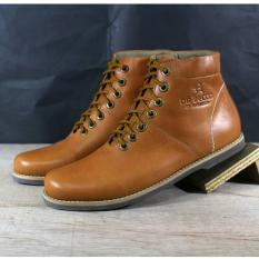 Sepatu Boots Casual Pria Terkini Kulit Asli - DR BECCO MAZDA - Tan