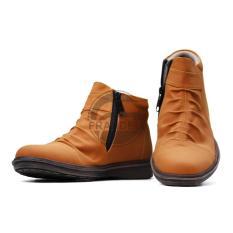 Sepatu Boots CASUAL Zipper Moofeat PRIA - sepatu formal Wringkle pantofel HITAM Coklat Navy OCEAN C