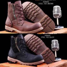 Sepatu Boots Caterpillar / Cat Kansas Safety Pria Murah - Sepatu Kerja - Sepatu Formal