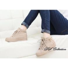 Jual Sepatu Boots Cream Wanita Cewek Import