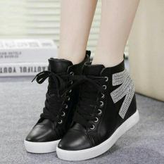 Sepatu Boots Fashion Wanita Alf-B03-Hitam-3740