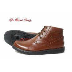 Sepatu Boots formal pria Dr. Becco Freezy Coklat Hitam I Pantofel Casual Kulit Asli Cevany Kickers Bally