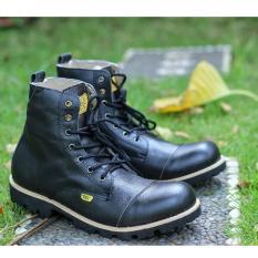 Spek Sepatu Boots Kulit Asli Original Pria High Quality Country Boots Ug Black