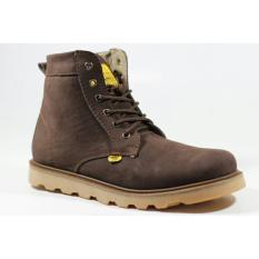 Sepatu Boots Kulit Asli Original Pria Keren High Quality - COUNTRY BOOTS GUNDUL - Brown