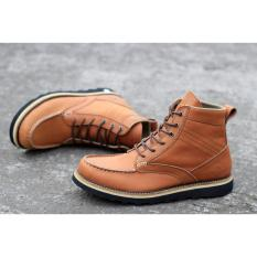 Beli Kerak Store Sepatu Boots Tinggi Kulit Sepatu Boots Leathers Men Wolf Kintamani Tan Di Jawa Barat