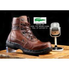 Dapatkan Segera Sepatu Boots Kulit Asli Pria Brown Kurma