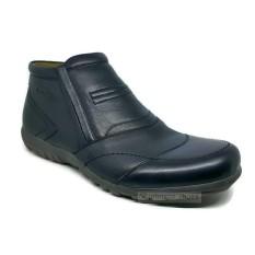 Sepatu Boots Kulit Asli Pria JUSTIN OTTO - AS 826 Hitam
