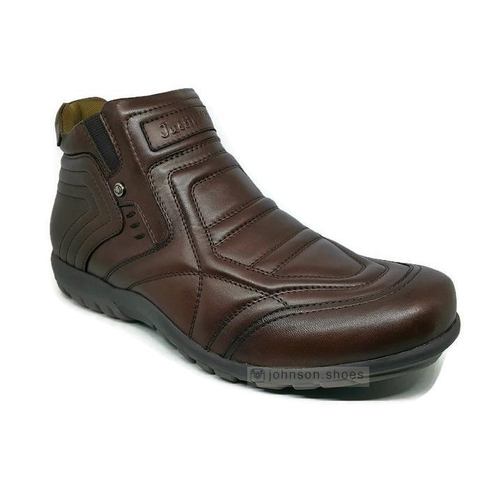 Sepatu Boots Kulit Asli Pria JUSTIN OTTO - AS 829 Coklat