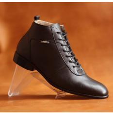 Sepatu Boots Kulit Asli Terbaik Pria Casual Terkini - CEVANY MAX - Black