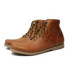Sepatu Boots Kulit Asli Terbaru Pria Keren - DR BECCO PAJERO - Tan