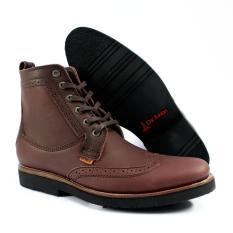 Sepatu boots kulit handmade original wingtip lokal brand bandung Dr.faris footwear