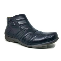 Sepatu Boots Kulit Pria JUSTIN OTTO - AS 828 Hitam