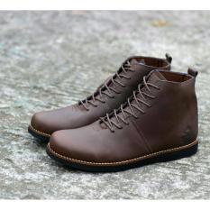 Sepatu Boots Kulit Pria Wolf Brodo Malamut Original Hight Quality - Brown
