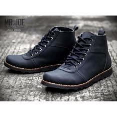 Jual Mrj Sepatu Brodo Boots Mr Joe Original Sepatu Boots Pria Mrj Barra Hitam Branded Murah