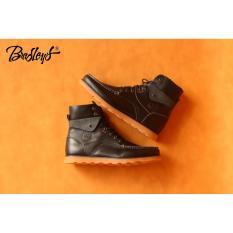 Sepatu boots phantom pria bikeers kulit asli garut original handmade bandung bradley