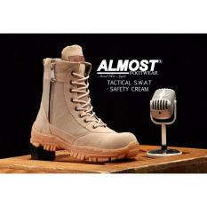 Sepatu Boots Pria Almost Delta U.S.A Tactical Resleting Safety Army Gurun Suede Mercy Tracking Hiking And Touring