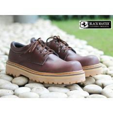 Sepatu Boots Pria berbahan Kulit - Model Rendah - BLACK MASTER UNDERGROUND LOW - Hitam - Krem - Coklat