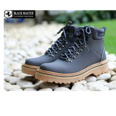 Sepatu Boots Pria Black Master Tiger Touring
