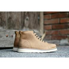 Harga Sepatu Boots Pria Bradleys Brodo Cordovan Kulit Asli Tan Yang Murah
