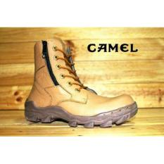 Sepatu Boots Pria Cloathing Camel Predator Tan Leather Safety