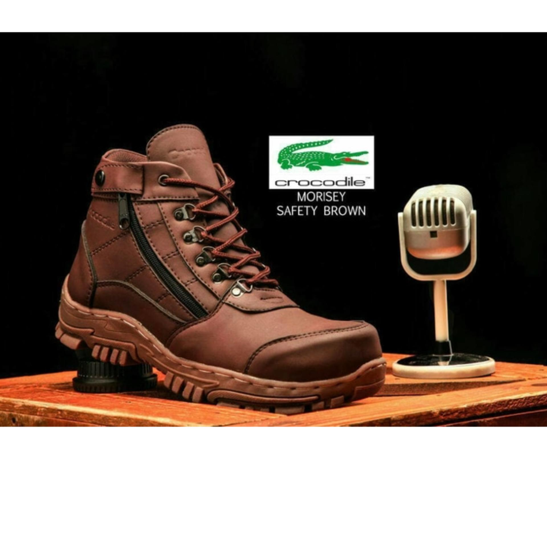 FREE KAOS KAKI 1 PASANG sepatu boots pria crocodile morisey safety boot  murah Crocodile a0ce4c5802
