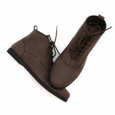 Beli Sepatu Boots Pria Frandeli Lace Up Klasik Original Darkbrown Murah