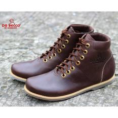 Jual Cepat Sepatu Boots Pria Brodo Kulit Asli Dr Becco Pajero Brown