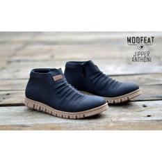 Sepatu Boots Pria Moofeat Jipper Anthoni Original Black b426083e98