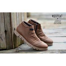 Promo Sepatu Boots Pria Moofeat Jipper Anthoni Original Brown Moofeat Terbaru