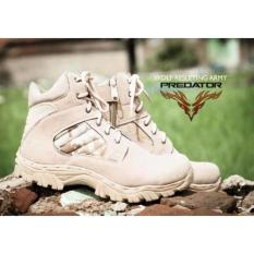 Sepatu Boots Pria Predator Delta Army California Suede Mercy Tracking Hiking And Touring - Crem
