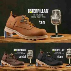 Sepatu Boots Pria Safety TERMURAH Sepatu Boots Caterpillar Safety Casual Pria Kickers Low Boot Kulit Original