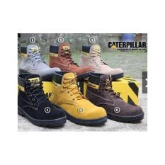 Sepatu Boots Pria Safety TERMURAH Sepatu Caterpillar Safety Boots Original  Brand Custom Bandung 4d1cd46162