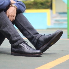 Sepatu Boots Pria / sepatu Brodo Kulit Asli Original Cevany - Black