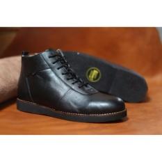 Diskon Sepatu Boots Pria Sepatu Brodo Kulit Asli Original Cevany Black Cevany Di Indonesia