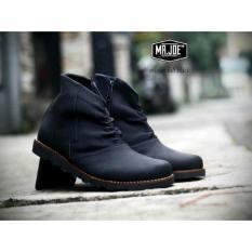 Jual Sepatu Boots Pria Sepatu Kerja Sepatu Casula Sepatu Pormal Sepatu Sekolah Sepatu Sport Sepatu Safety Black Di Banten