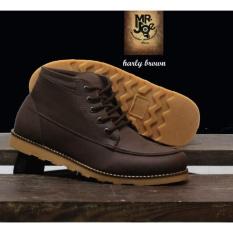 Sepatu Boots Pria Terbaru - MR JOE HARLEY - Brown