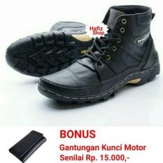 Sepatu Boots Pria Touring Casual Kulit Asli Hand Made Model Rhezu Terbaru.