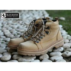 Sepatu Boots Pria Trendy Terbaru Berkualitas - BLACK MASTER HARDROCK - Hitam/Coklat/Krem/Abu-abu