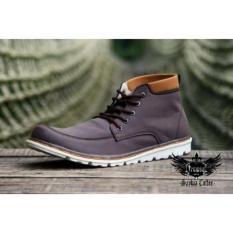 Beli Sepatu Boots Pria Truman Saybia Brown Coffe Kredit Banten
