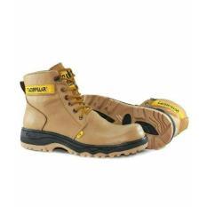 Sepatu Boots Safety Anti Air Kulit Asli Carerpillar - Fgggxa
