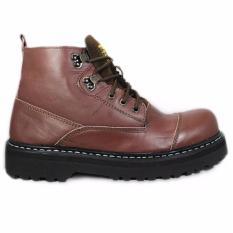 Sepatu Boots Safety Black master tali boxer Pria sepatu motor touring - Warna Hitam + warna coklat / Ujung Besi / Sepatu Pria / Sepatu Safety sepatu bikers touring rider