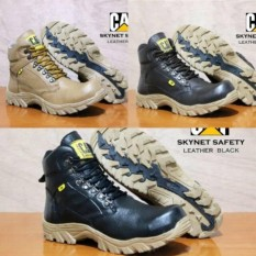 Sepatu Boots Safety Caterpillar Skynet Boot Murah Kulit Asli Worksafe