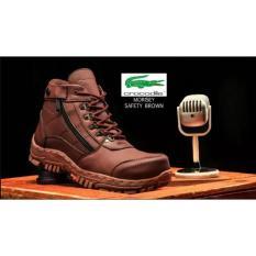 sepatu boots safety gunung hikking tracking crocodile morisey brown sepatu pria