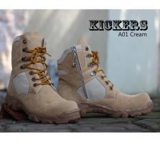 Harga Sepatu Boots Safety Kickers Warna Cream Sepatu Murah Online