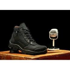 Toko Sepatu Boots Safety Pria Morisey Hitam Boots Jawa Barat