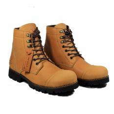 Beli Sepatu Boots Safety Pria Sepatu Kulit Asli Pull Up Pitbull Tan Lengkap