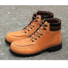Cuci Gudang Sepatu Boots Safety Pria Terbaru Wolf Rottwailer Safety Coklat Tan