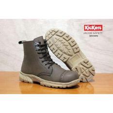Obral Sepatu Boots Safety Pria Ujung Besi Murah