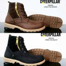 Sepatu Boots Safety Ujung Besi Sleting / Harga Ecer / Menerima Grosir Dan Reseller
