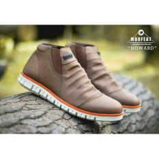 Harga Sepatu Boots Slop Wringkle Moofeat Howard Touring Brown Premium Quality Origin
